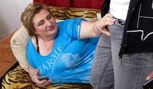 bbw huge tits mature slut doing her friend