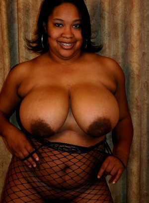 Black bbw nudes in fishnets gives him a wet pussy to fuck all day