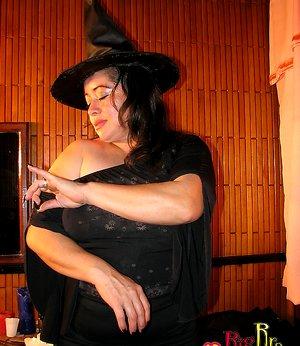 Happy Halloween with Busty Witch bbw joi