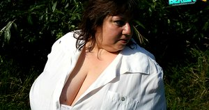 Outdoor session with german bbw romance books and her fat bimbos